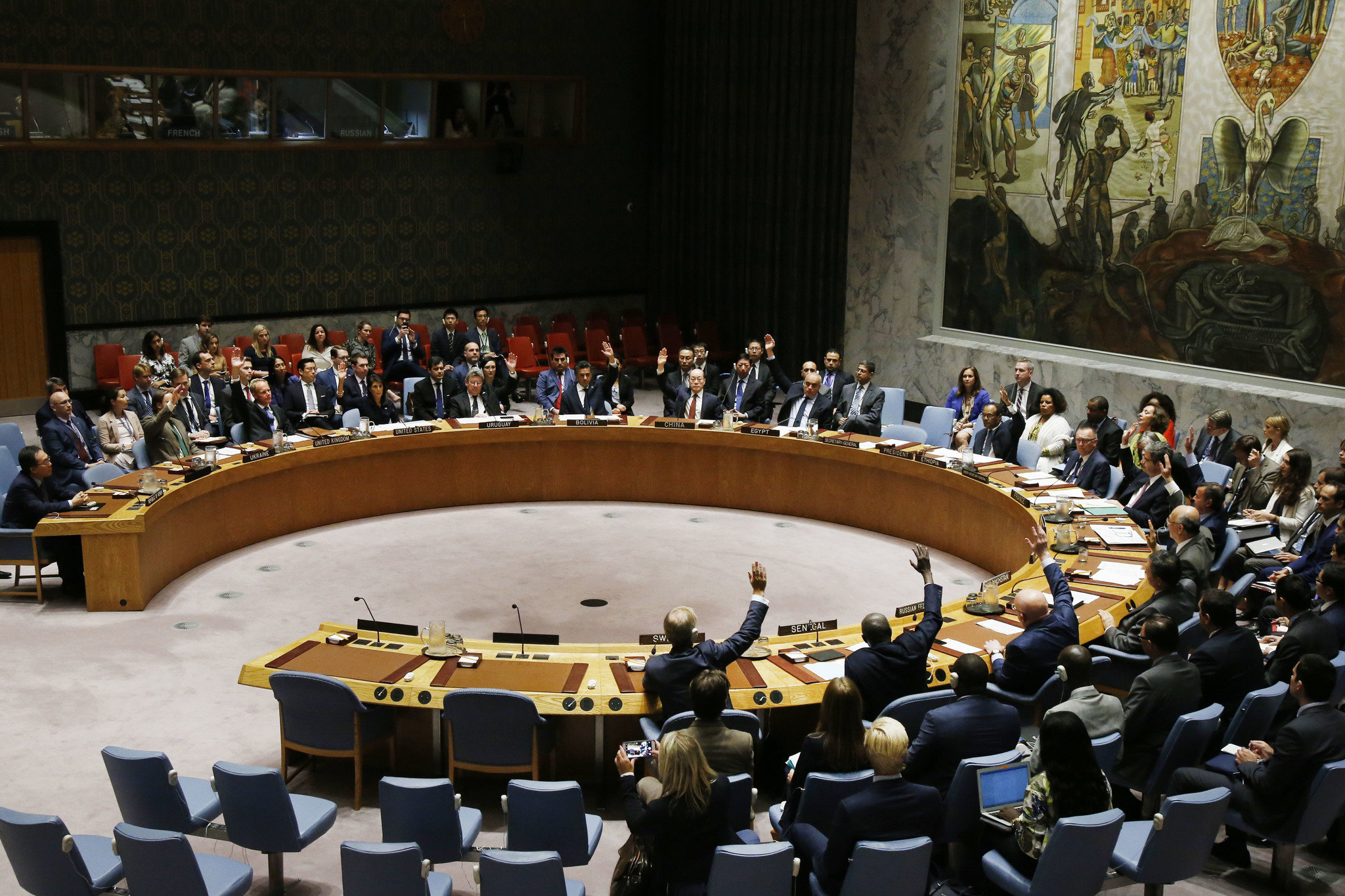 Security Council votes sanctions on N Korea blunted by Russia, China