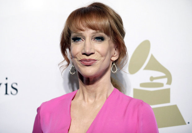 Comedian Kathy Griffin, pictured here at a Grammy Awards event in February, is under fire following controversial photos depicting a decapitated President Donald Trump