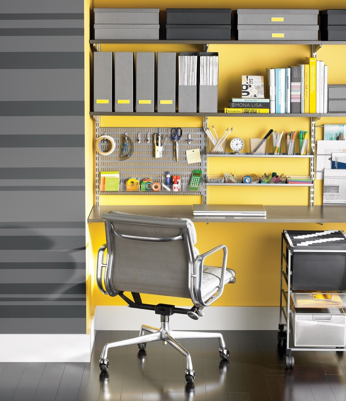 Home office closets can be both attractive and functional - Container store home office ...