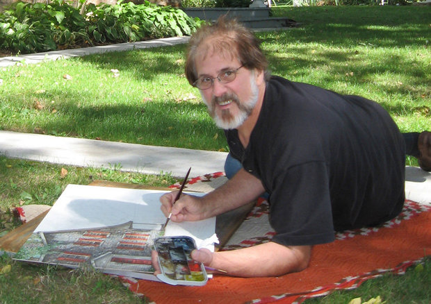 Nationally-known watercolor artist Dan Campanelli passed away under Hospice care at his home in the Quakertown section of the township on May 24, 2017, after an almost two-year battle with non-Hodgkins Lymphoma and then Acute Lymphoblastic Leukemia. (courtesy photo)