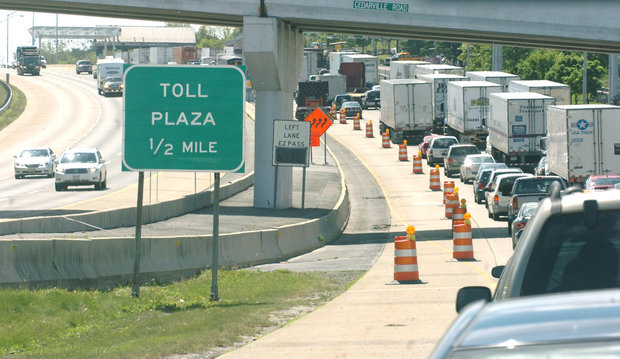 The Delaware River Joint Toll Bridge Commission announced $12.6 million in work on its stretch of I-78, which includes the toll plaza entering Pennsylvania. (Sue Beyer | lehighvalleylive.com file photo)