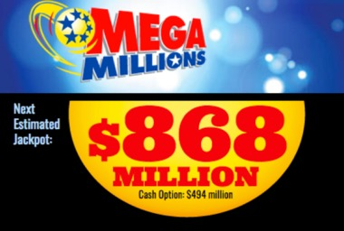 Mega Millions jackpot soars to $868M as 3 $1M tickets are sold in N.J., Pa.