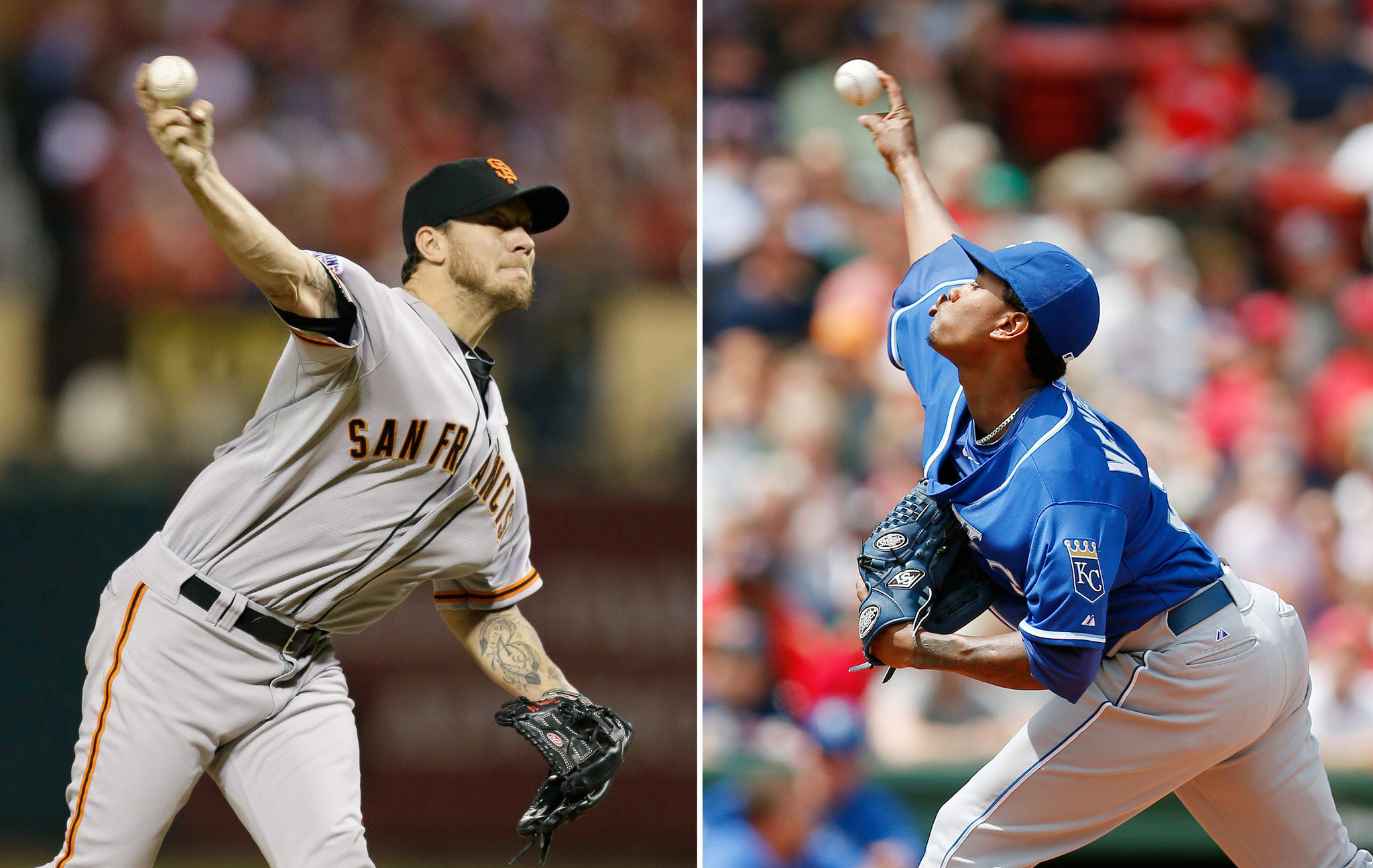 World Series 2014: Royals' Yordano Ventura, Giants' Jake Peavy set for Game 2 showdown