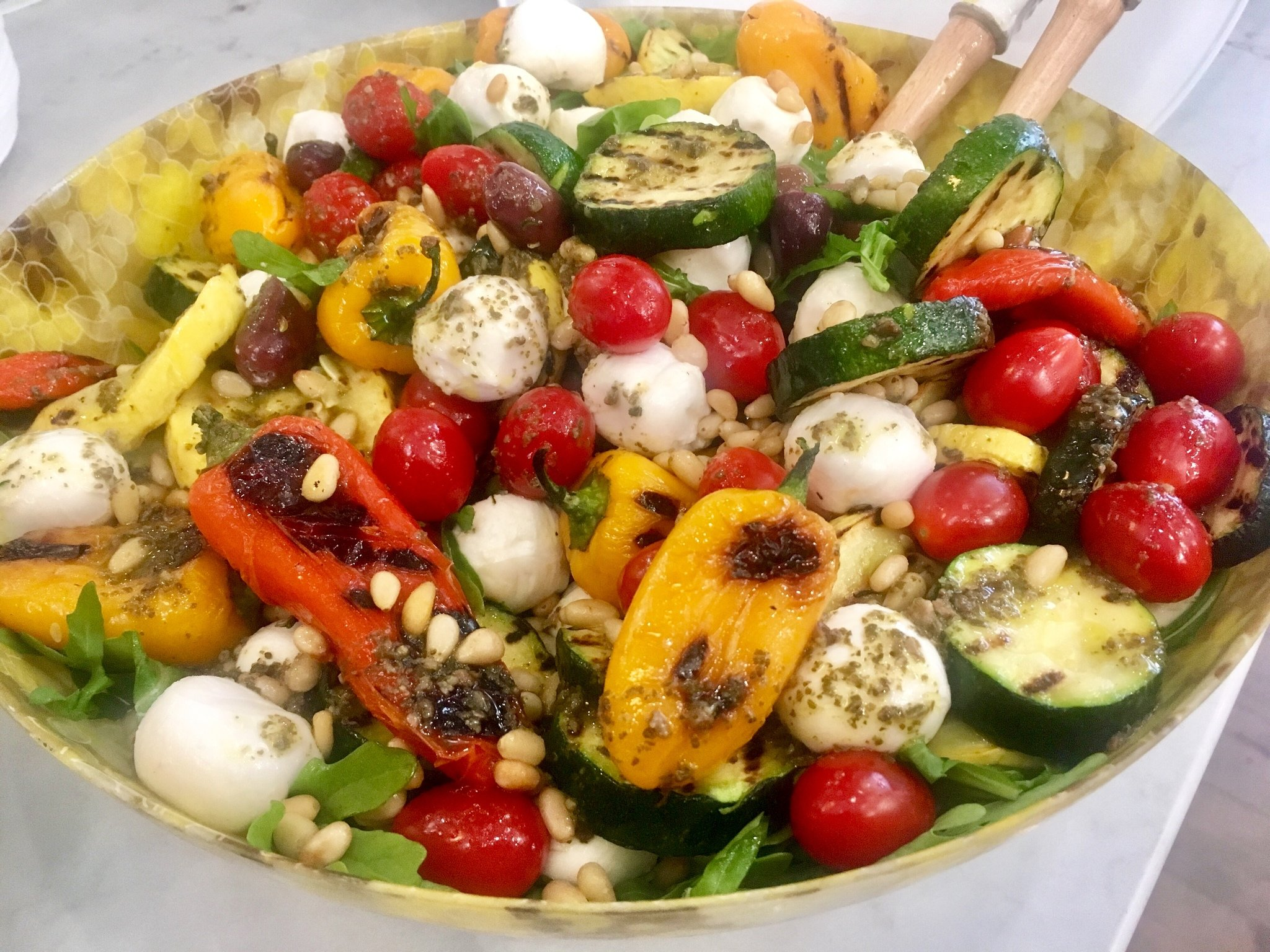 Grilled Veggie Salad This Bowl Of Goodness Is A Perfect Take Along All Vegetarian