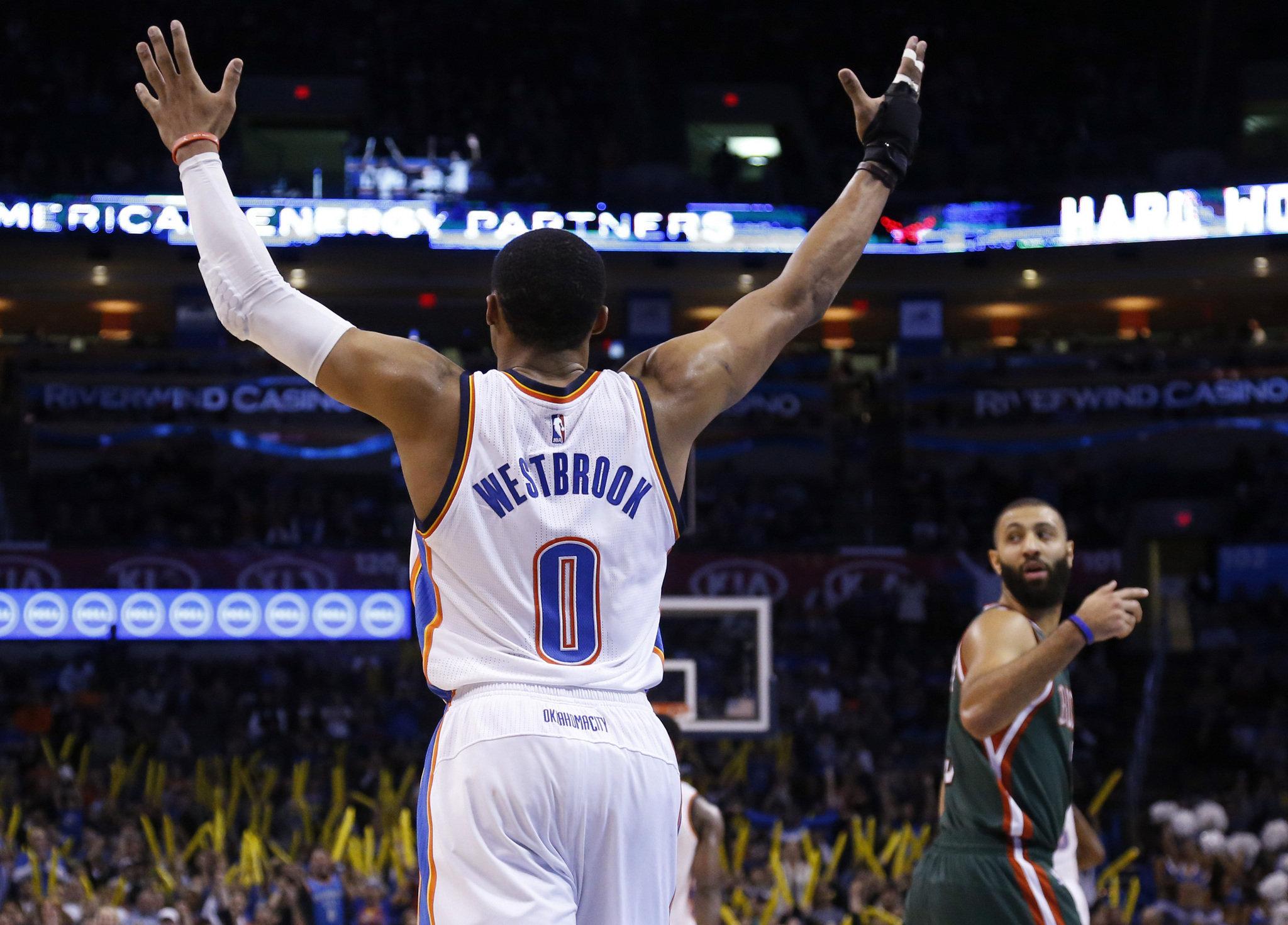 NBA top performers: Russell Westbrook soars over Kings; Kawhi Leonard fills the box score
