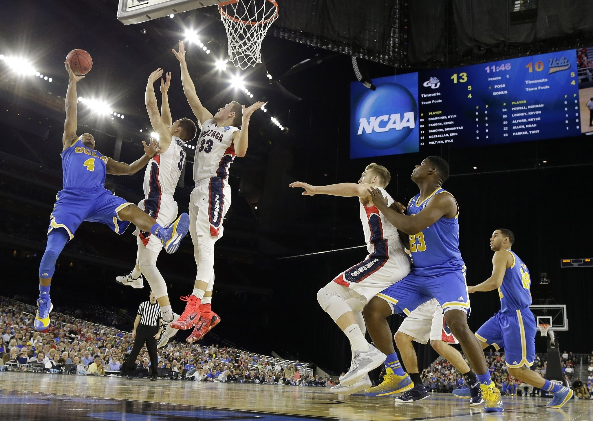 NCAA Gonzaga UCLA Basketball