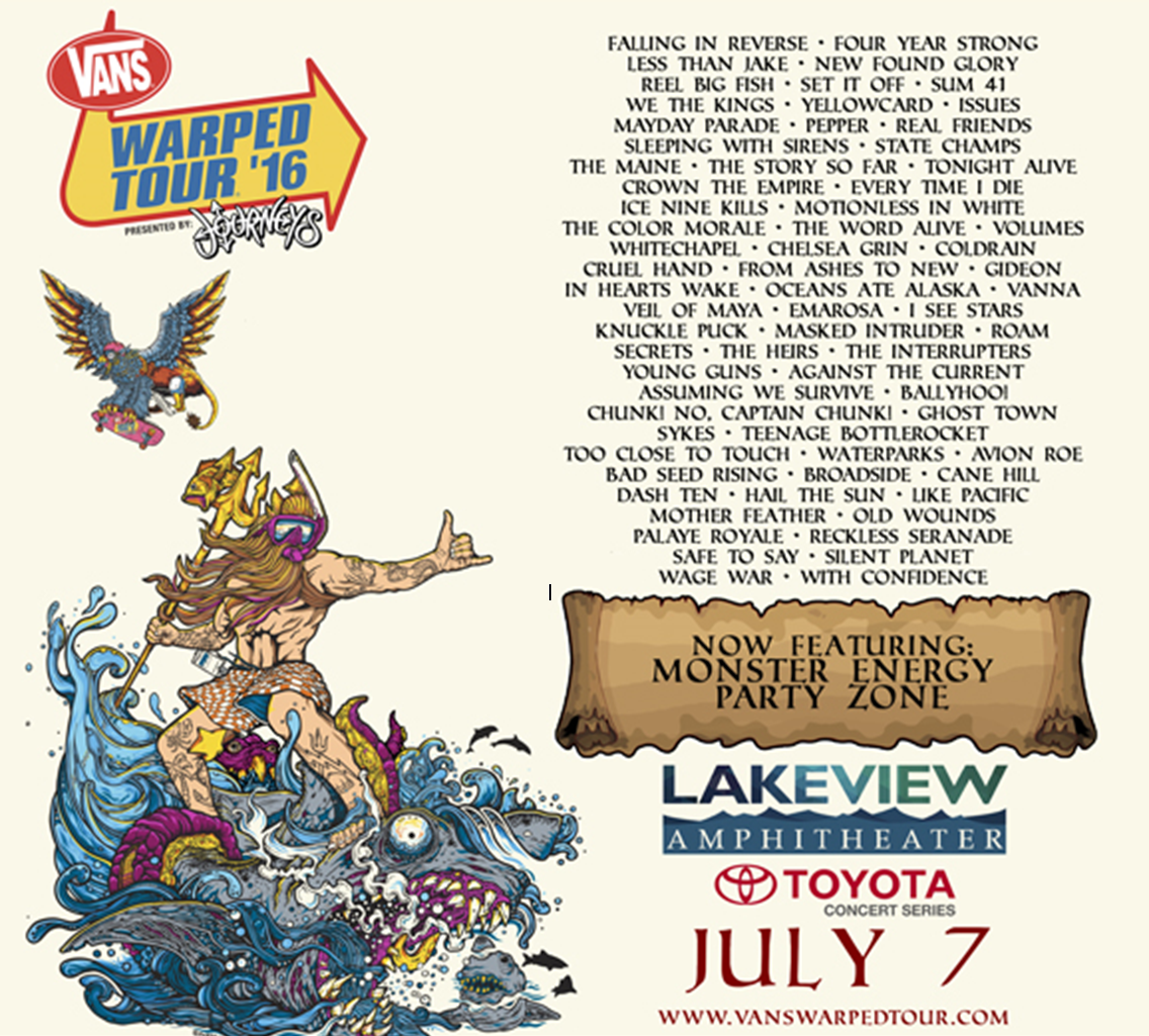All Artists That Went On Warped Tour