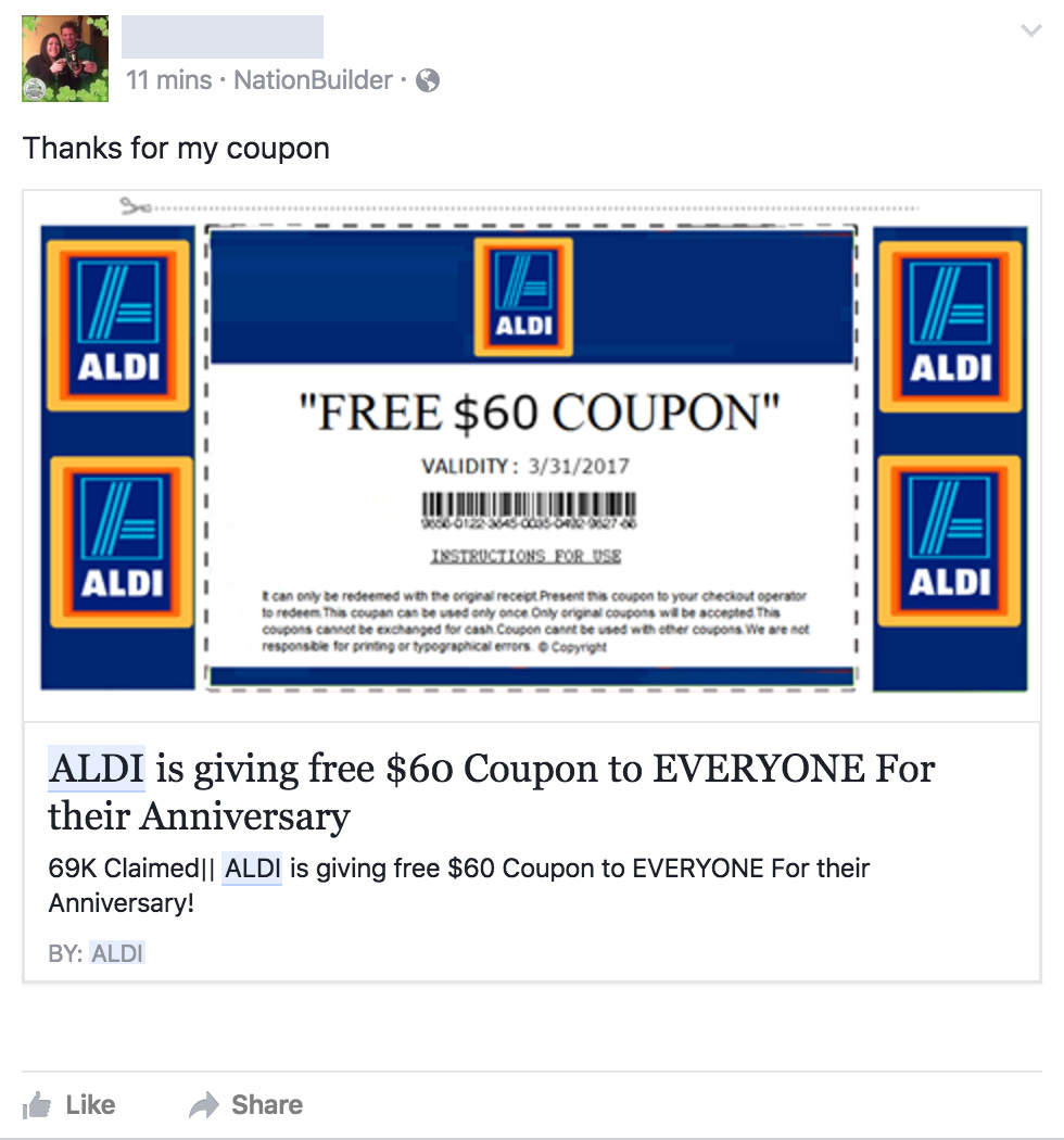 Aldi grocery coupons