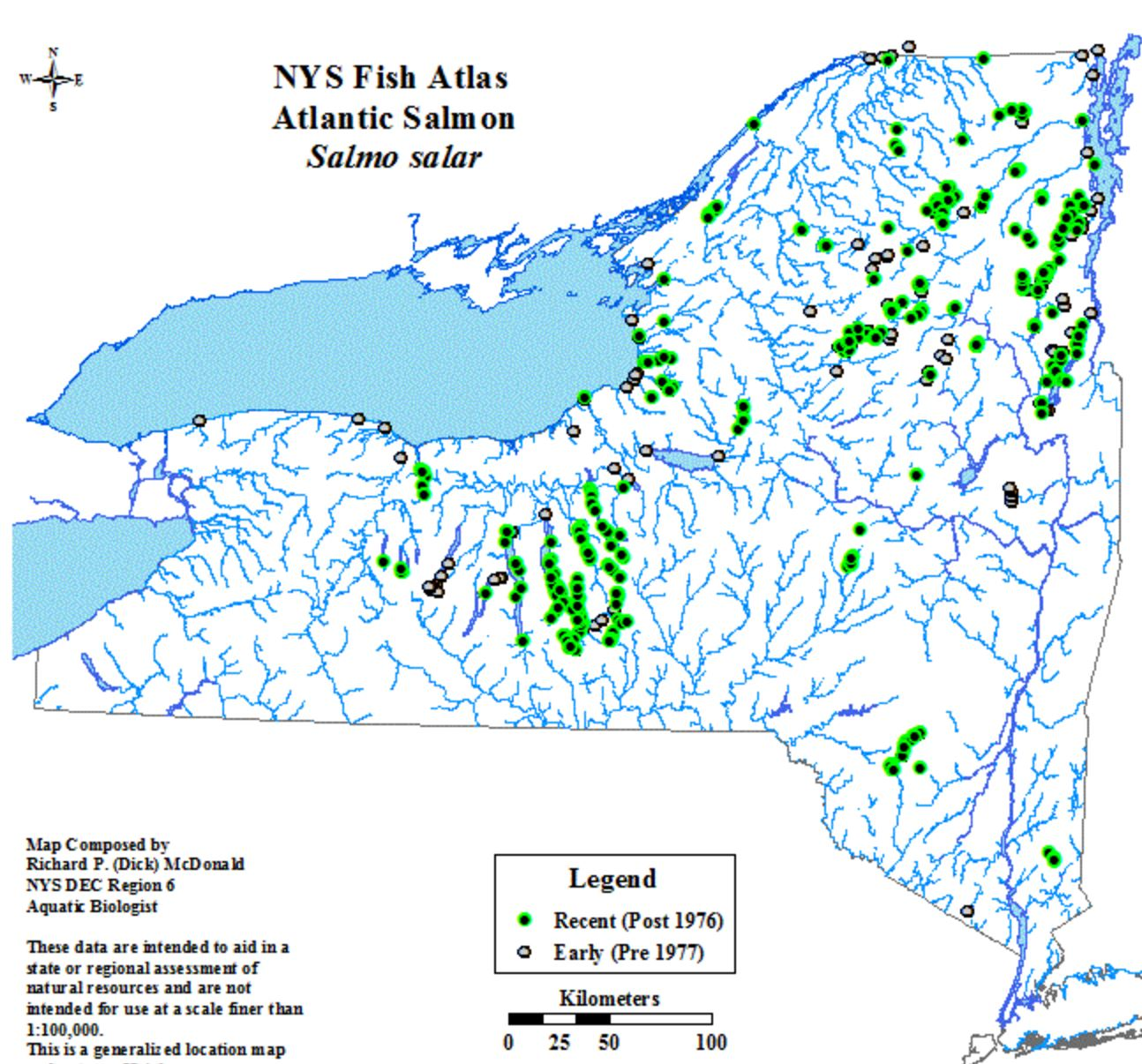 Can atlantic salmon thrive again in once highly polluted for Salmon river ny fishing map