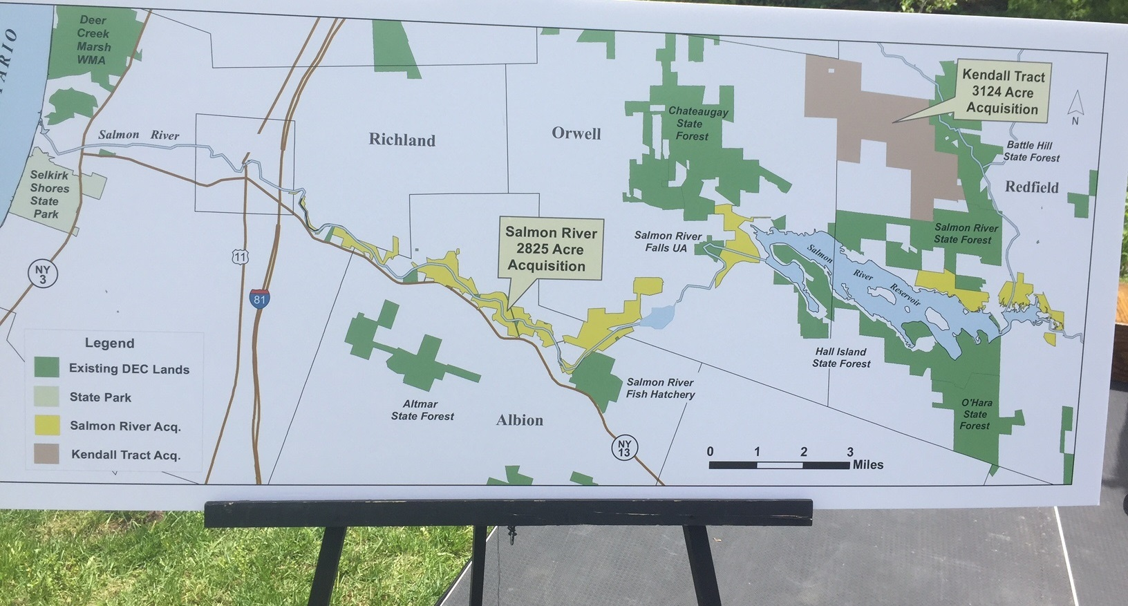 Gov Cuomo Announces Acquisition Of  Acres Along Near Salmon - Map us government owned land