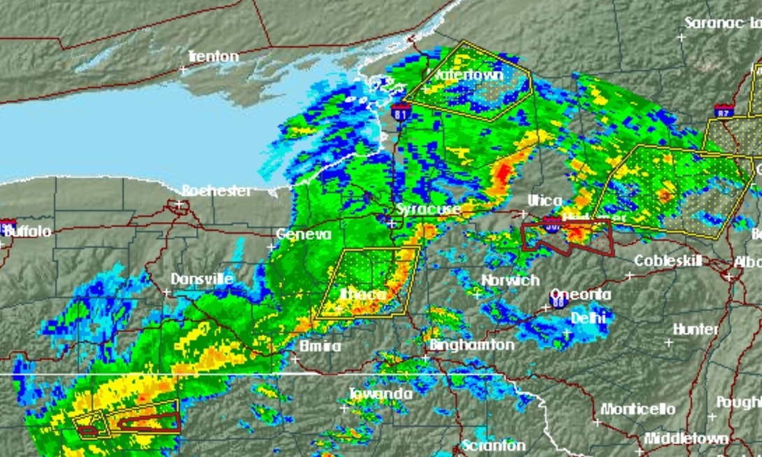 Tornado Warning Downgraded In Onondaga County As Storm Moves East - Syracuse doppler
