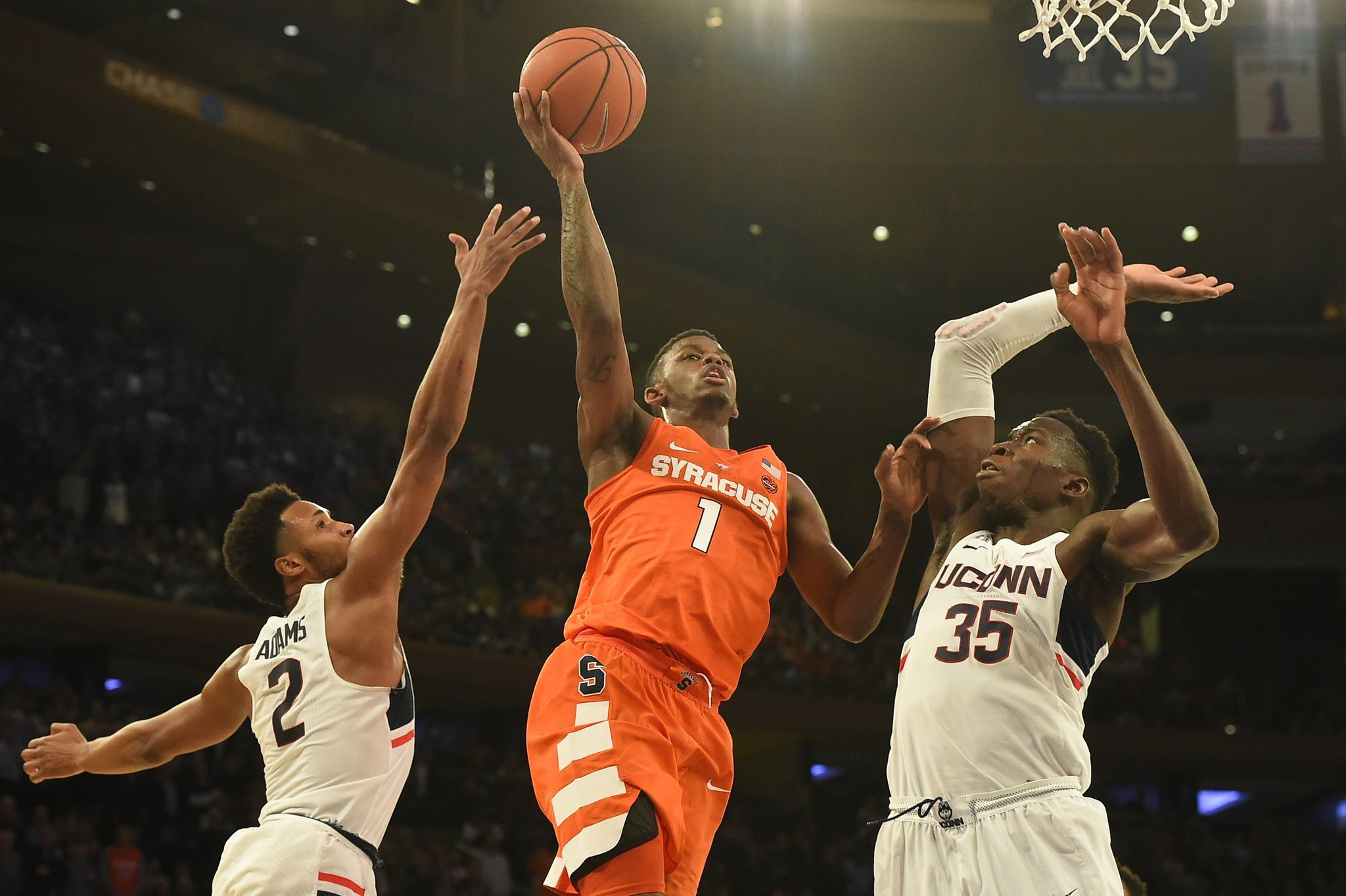 What channel is Syracuse basketball vs. Connecticut on? TV, live ...