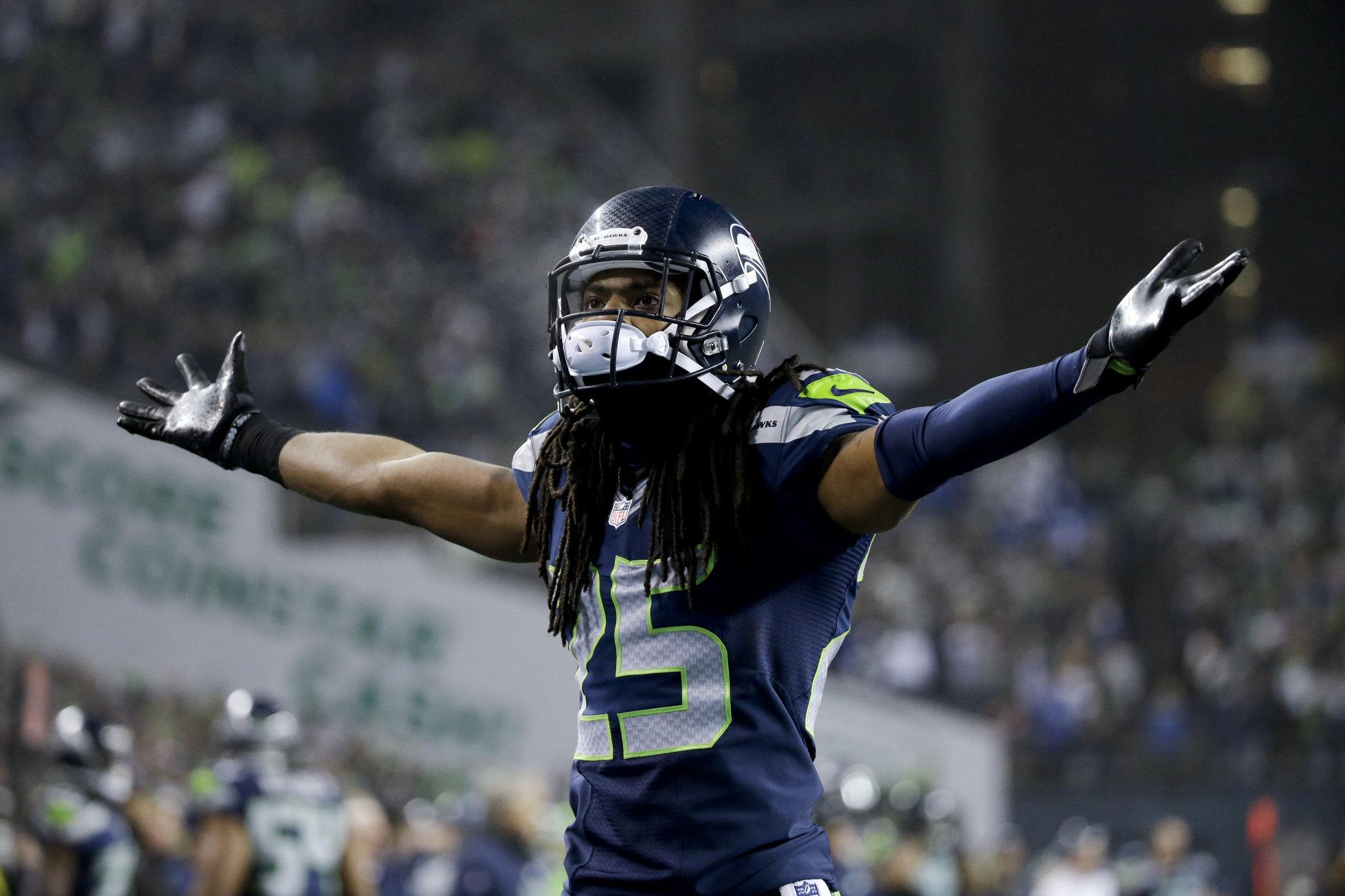 Seahawks cornerback Richard Sherman. Elaine Thompson/Associated Press