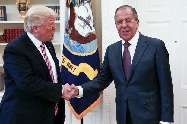 This handout photo released by the Russian Ministry of Foreign Affairs, shows President Donald Trump meeting with Russian Foreign Minister Sergey Lavrov in the Oval Office of the White House in Washington, Wednesday, May 10, 2017. (Russian Foreign Ministry via AP)