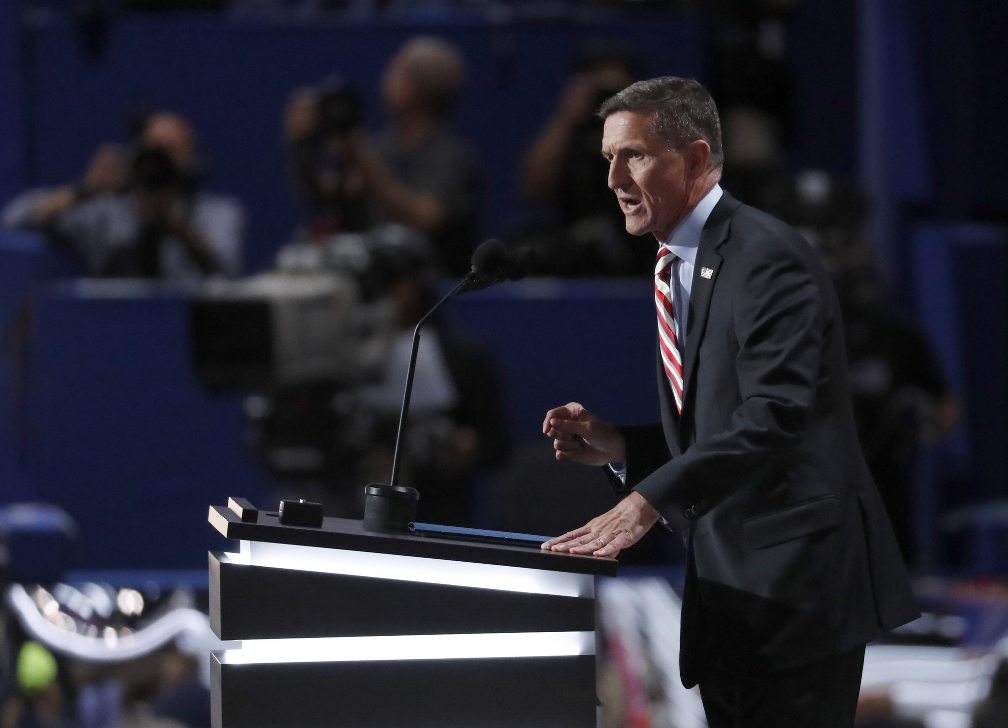 Michael Flynn Rnc >> GOP speakers lead chants of 'Lock her up!' at RNC. Did they cross a line?   cleveland.com