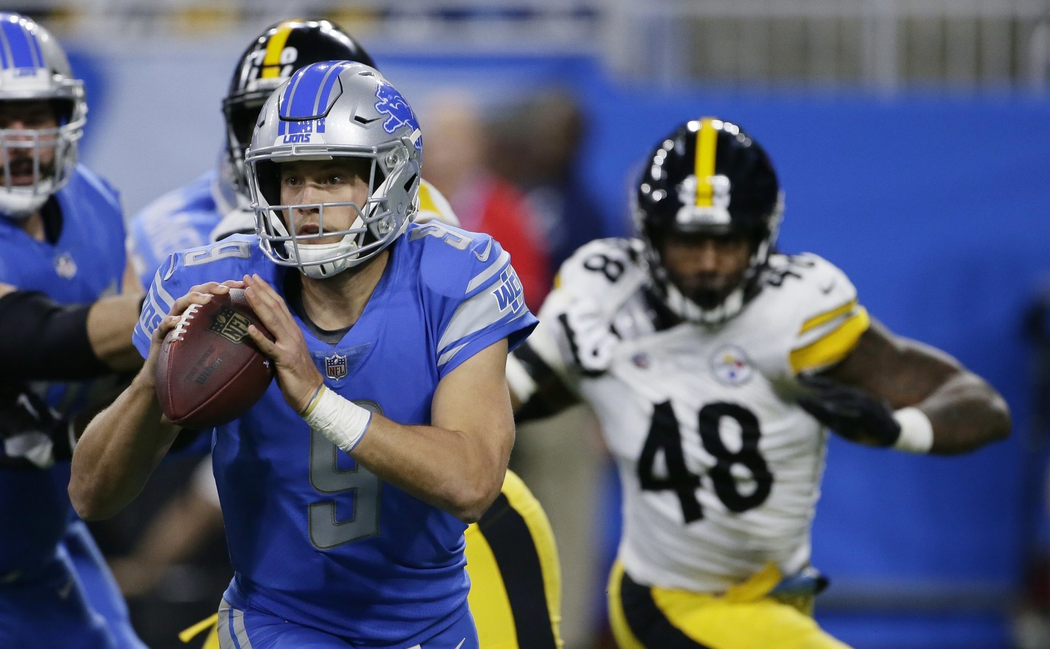 Steelers struggle with Matt Stafford exposed for 2nd half of