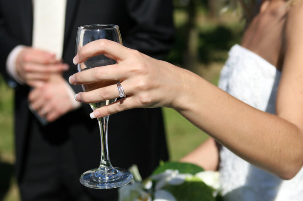 This is a file photo of a woman wearing engagement and wedding rings. Washington Township, Warren County, police announced May 3, 2017, the arrest of a Washington woman in the theft of a friend's $4,000 engagement ring. (NJ Advance Media file photo   For lehighvalleylive.com)
