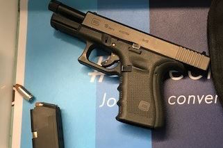 Transportation Security Administration officers confiscated this 9mm handgun loaded with 18 hollow-point bullets on May 13, 2017, at Newark Liberty International Airport, officials said. (Courtesy photo)