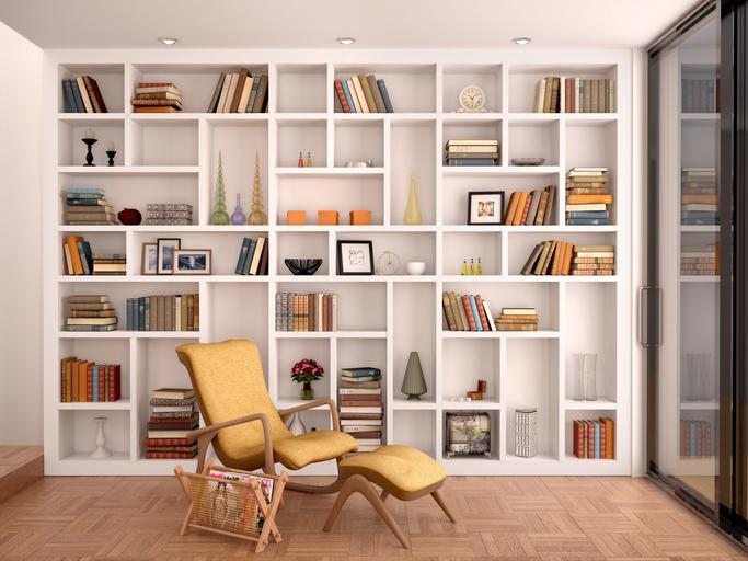 Ilration Of White Shelves For Decoration