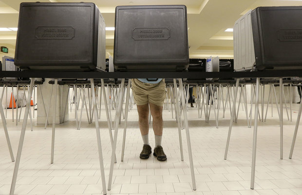 Alabama has now banned crossover voting. (AP Photo/Jeff Chiu)